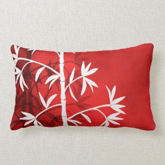 Rojo de bambú blanco cojín lumbar