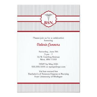 Rojo de Borgoña de la graduación del RN BSN LPN Invitación 12,7 X 17,8 Cm