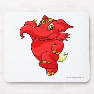 Rojo de Elephante Alfombrilla De Ratón