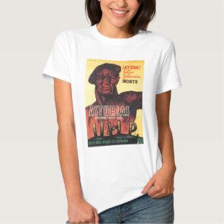 Rojo de Espana 1936 del soccoro de la guerra civil Camisetas