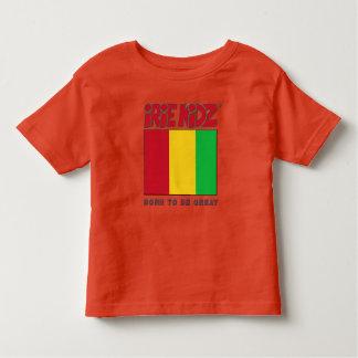 Rojo de IRIE KIDZ®, oro y camiseta verde del niño
