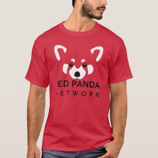 Rojo de la camiseta de la red de la panda roja