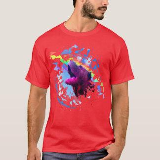 Rojo de la camiseta de Pei de la prisma