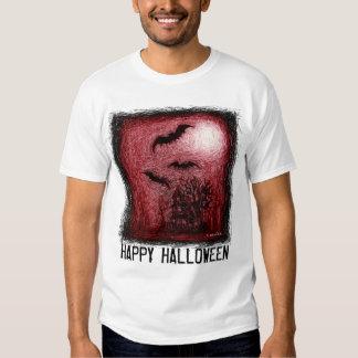 Rojo de la camiseta del rasguño de la casa