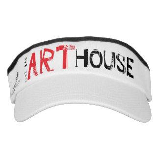 Rojo de la casa del arte visera