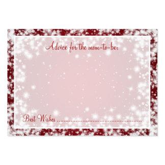 Rojo de la chispa del invierno de la fiesta de tarjetas de visita