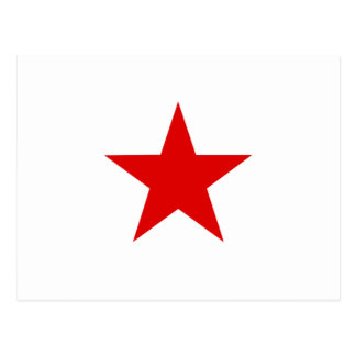 ★ rojo de la estrella postal