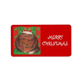 Rojo de la etiqueta de la etiqueta del regalo de l etiqueta de dirección