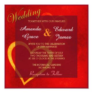 Rojo de la invitación del boda