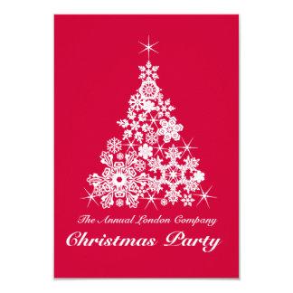 Rojo de la invitación del fiesta del árbol del