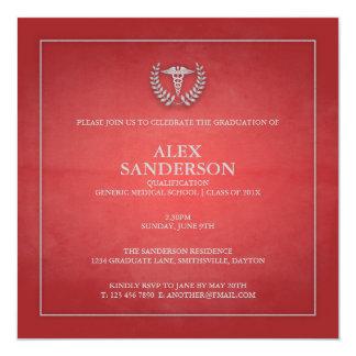 Rojo de la invitación el   de la graduación de la