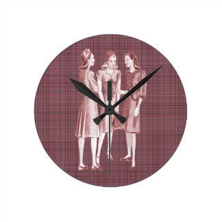 Rojo de la moda V2 de los años 40 del vintage Reloj Redondo Mediano
