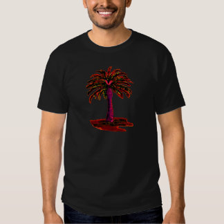 Rojo de la palmera los regalos de Zazzle del MUSEO Camiseta