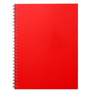 Rojo de la pasión libros de apuntes con espiral