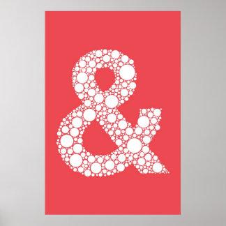 """Rojo de la sandía del poster del signo """"&"""" (y símb"""