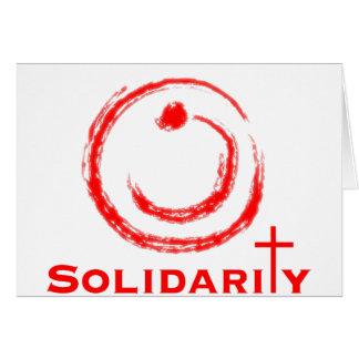 Rojo de la solidaridad del Nazarene Tarjeta De Felicitación