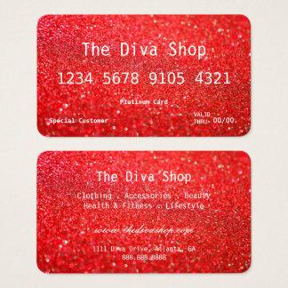 Rojo de la tarjeta de crédito del brillo de la