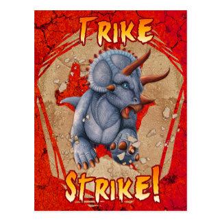 Rojo de la tarjeta del agolpamiento de Trike Postal