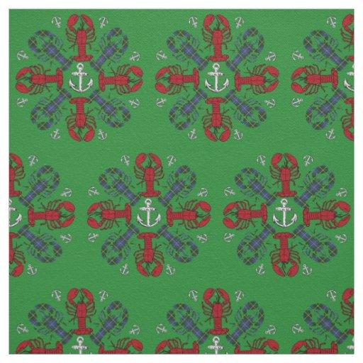 Rojo de la tela de N.S. Christmas del ancla del