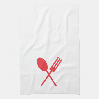 Rojo de la toalla de cocina de Spork