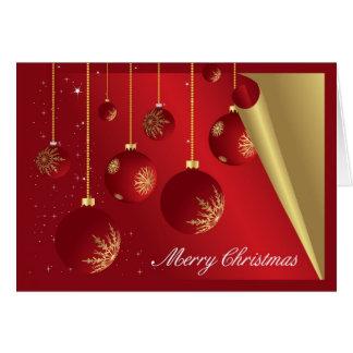 Rojo de las chucherías de la decoración de las tarjeta de felicitación
