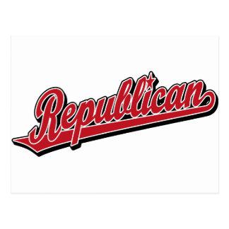 Rojo de lujo del logotipo republicano de la escrit postal