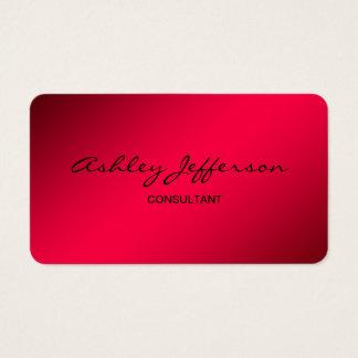 Rojo de moda de la escritura elegante profesional tarjeta de negocios