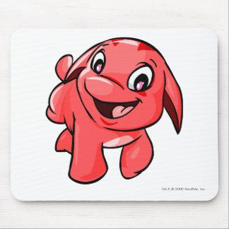 Rojo de Pooogle Alfombrilla De Ratón