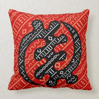 Rojo de Sankofa Cojín Decorativo