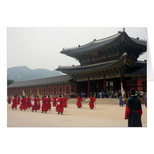 rojo de Seul del palacio Tarjeta De Felicitación