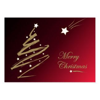 Rojo del árbol de navidad - tarjeta de etiqueta tarjetas de visita grandes