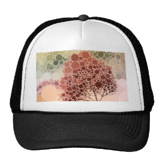 rojo del árbol del efecto gorra