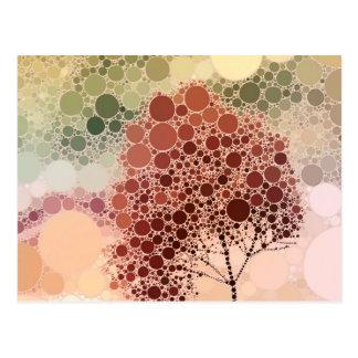 rojo del árbol del efecto postal