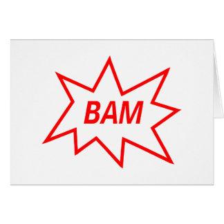 Rojo del Bam Felicitación