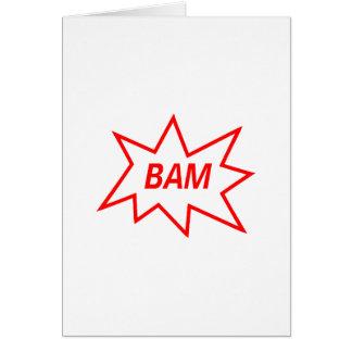 Rojo del Bam Tarjeta De Felicitación