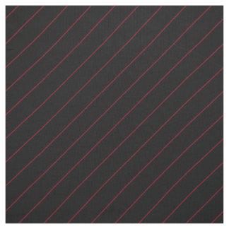 Rojo del estrecho en raya negra telas