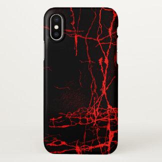 Rojo del horror funda para iPhone x