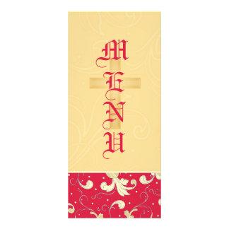 Rojo del lápiz labial, oro, cristiano, casando el  plantilla de lona