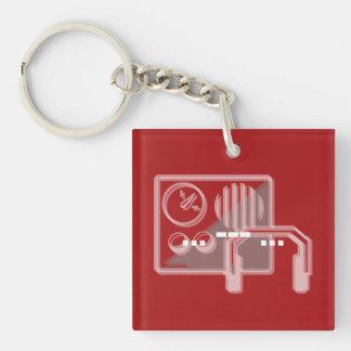 Rojo del llavero del código Morse SOS