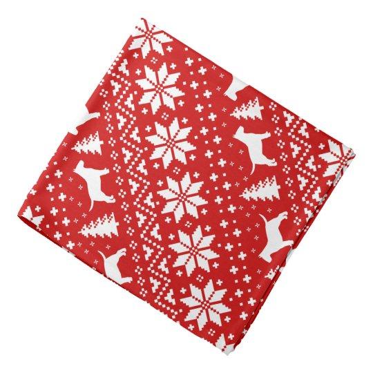 Rojo del modelo del navidad de las siluetas de bandana