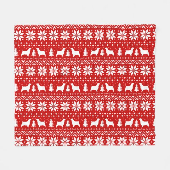 Rojo del modelo del navidad de los perros de aguas manta polar