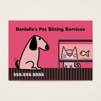 Rojo del negocio del canguro del mascota tarjeta de visita