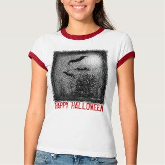 Rojo del negro de la camiseta del rasguño de la ca