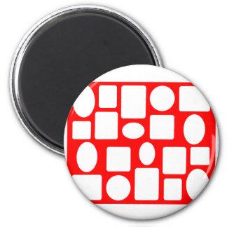 Rojo del paisaje del marco el MUSEO Zazzle Imán Redondo 5 Cm
