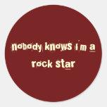 rojo del pegatina de la estrella del rock