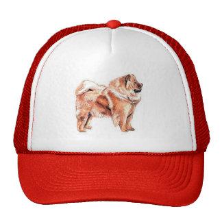 Rojo del perro chino de perro chino gorros