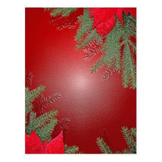 Rojo del Poinsettia del navidad Tarjeta Postal