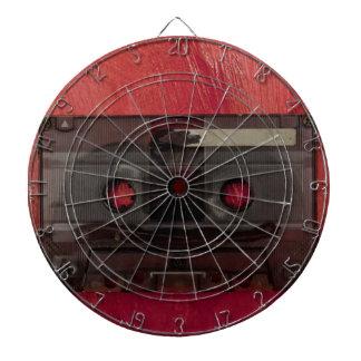 Rojo del vintage de la música de la cinta de diana