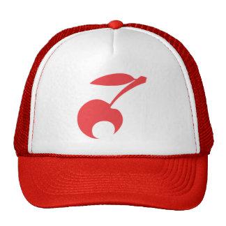 Rojo delicioso del gorra del camionero de la cerez