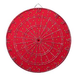 Rojo divertido del fondo de la fresa tablero dardos